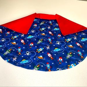 Kids double sided capes. Handmade by my label